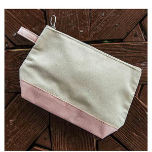 Monogram Canvas Pouch with Metallic Trim - The Preppy Bunny