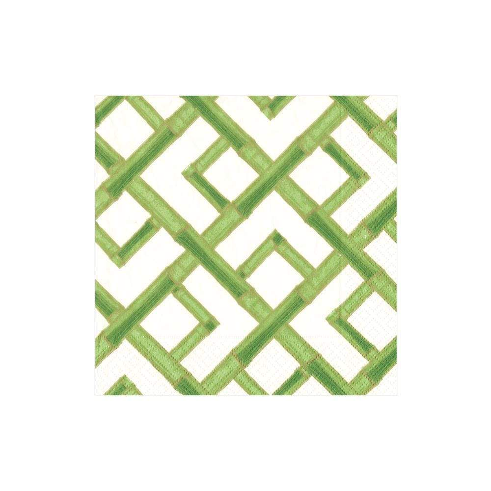 Bamboo Paper Cocktail Napkins in Green - The Preppy Bunny