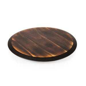 Lazy Susan Fire Acacia Cheese Board Serving Tray - The Preppy Bunny