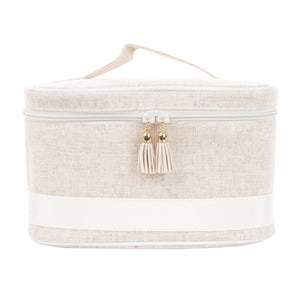 Linen Train Case - The Preppy Bunny