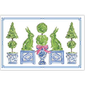 Easter Topiary Placemats - The Preppy Bunny
