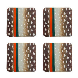 Antelope Enameled Coasters - Set of 4 - The Preppy Bunny