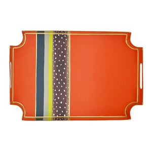 Orange & Stripe Jaye Tray - The Preppy Bunny