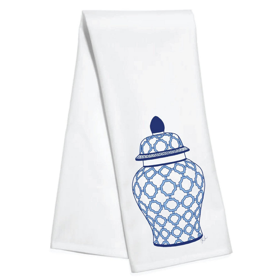 Ginger Jar Kitchen Towel - The Preppy Bunny