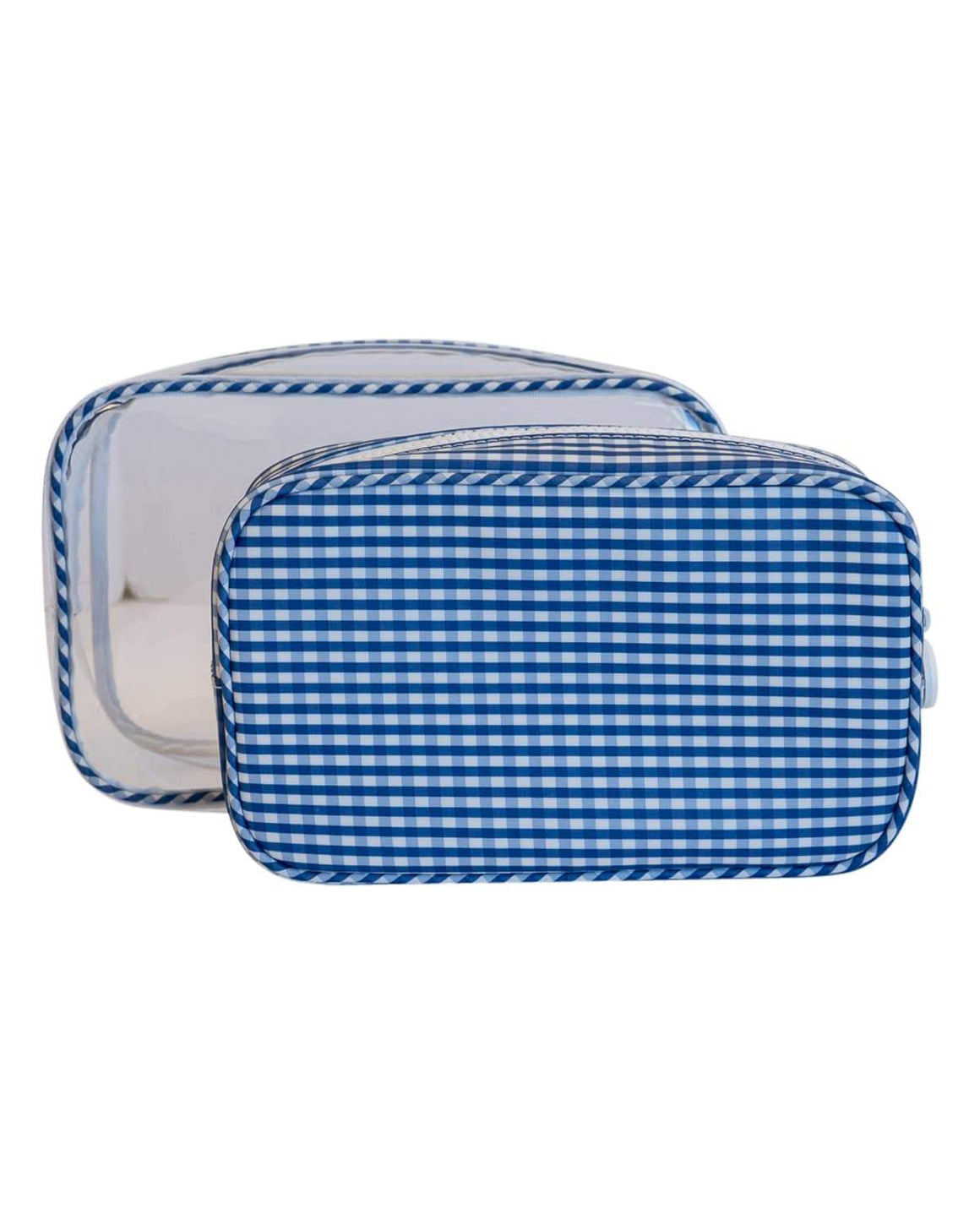 Clear Duo Gingham Travel Bag Set - more colors available - The Preppy Bunny