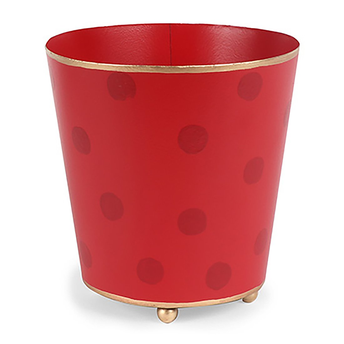 "Holiday Dots 6"" Round Cachepot Monogrammed - The Preppy Bunny"