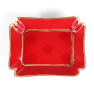 Holiday Dot Trinket Tray - The Preppy Bunny