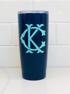 Swig Insulated 20oz Pink Personalized Tumbler - The Preppy Bunny