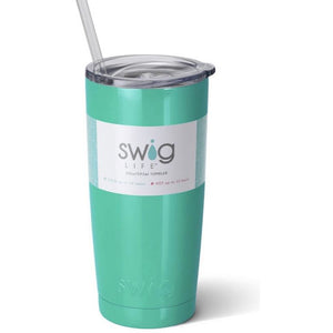 Swig Insulated 20oz Turquoise Personalized Tumbler - The Preppy Bunny
