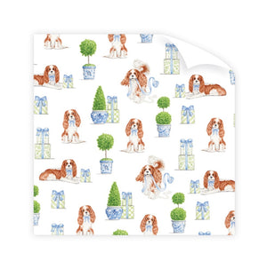 Dash Topiary and Toile Wrapping Paper - The Preppy Bunny