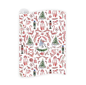 Nutcracker Toile Wrapping Paper Roll - The Preppy Bunny