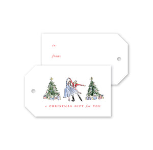 Nutcracker Toile Gift Tags - The Preppy Bunny