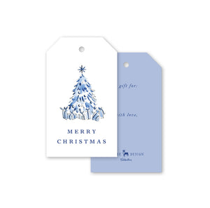 Blue Christmas Gift Tags Set of 10 - The Preppy Bunny