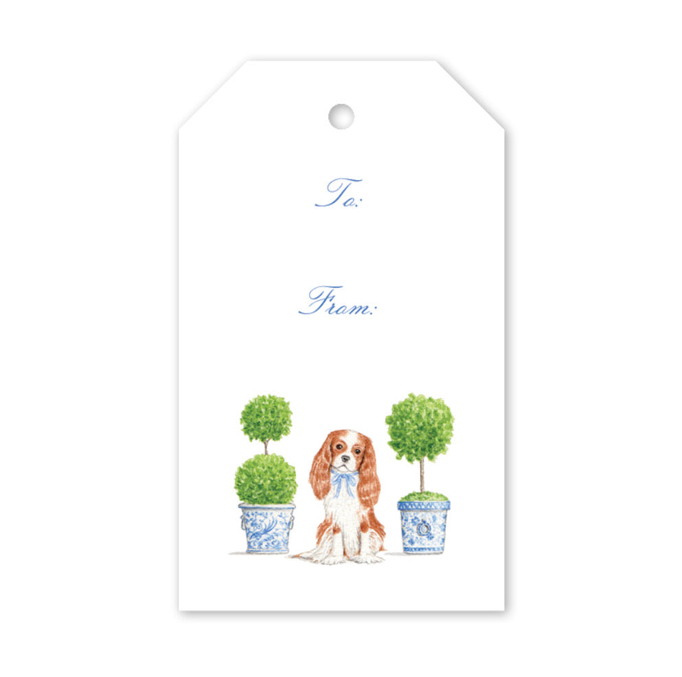 Dash Topiary and Toile Gift Tags - The Preppy Bunny