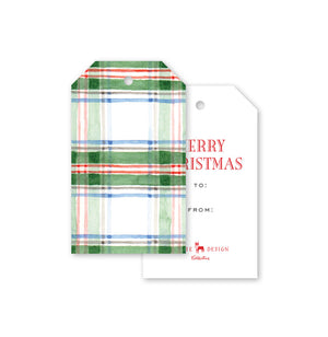 Tartan Watercolor Gift Tags - The Preppy Bunny