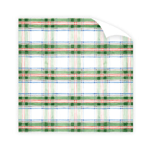 Tartan Watercolor Wrapping Paper Roll - The Preppy Bunny