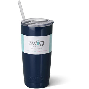 Swig Insulated 20oz Navy Personalized Tumbler - The Preppy Bunny