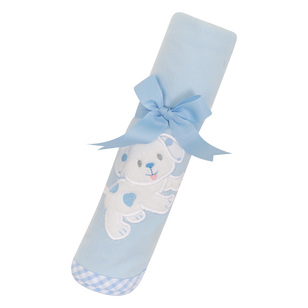 Blue Puppy Swaddle Blanket - The Preppy Bunny