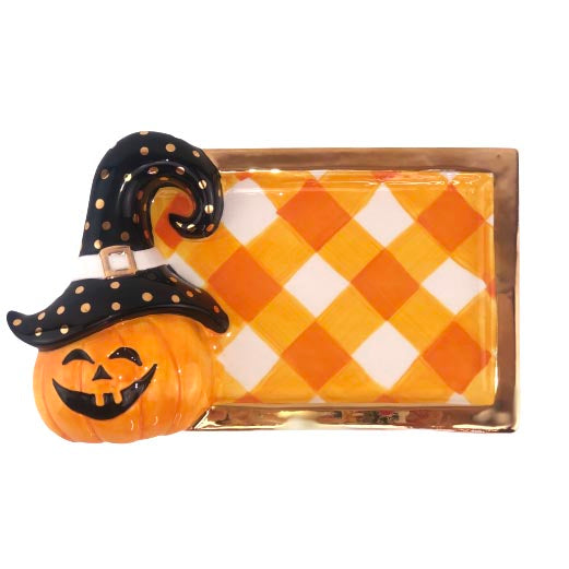 Halloween Pumpkin Treat Tray - The Preppy Bunny