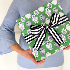Ginger Jar Pattern Gift Wrap - The Preppy Bunny