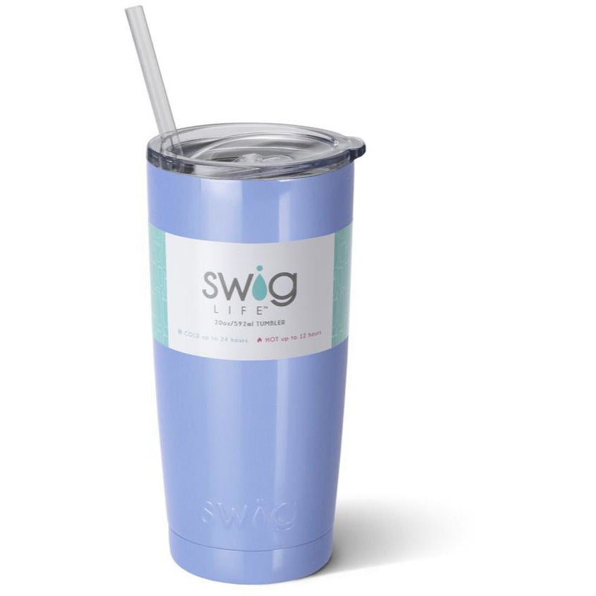 Swig Insulated 20oz Hydrangea Personalized Tumbler - The Preppy Bunny