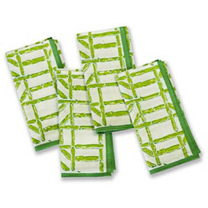 Green Bamboo Dinner Napkins Set of 4 - The Preppy Bunny