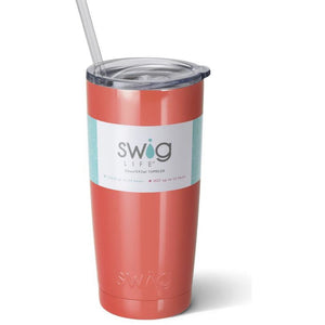 Swig Insulated 20oz Coral Personalized Tumbler - The Preppy Bunny