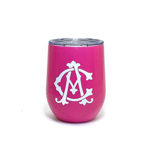 Swig Insulated 12oz Pink Personalized Stemless Wine Cup - The Preppy Bunny