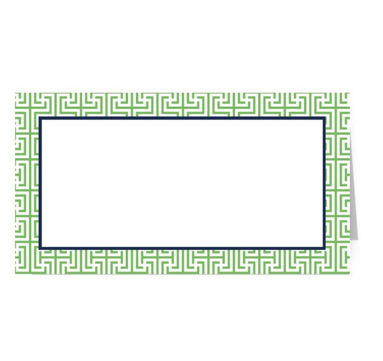 Garden Maze Green Fold Over Place Cards - The Preppy Bunny