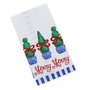 Merry Topiaries Kitchen Towel - The Preppy Bunny