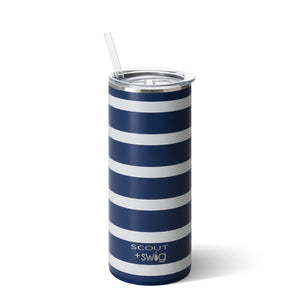 SCOUT + Swig Nantucket Navy Tumbler (20oz) - The Preppy Bunny