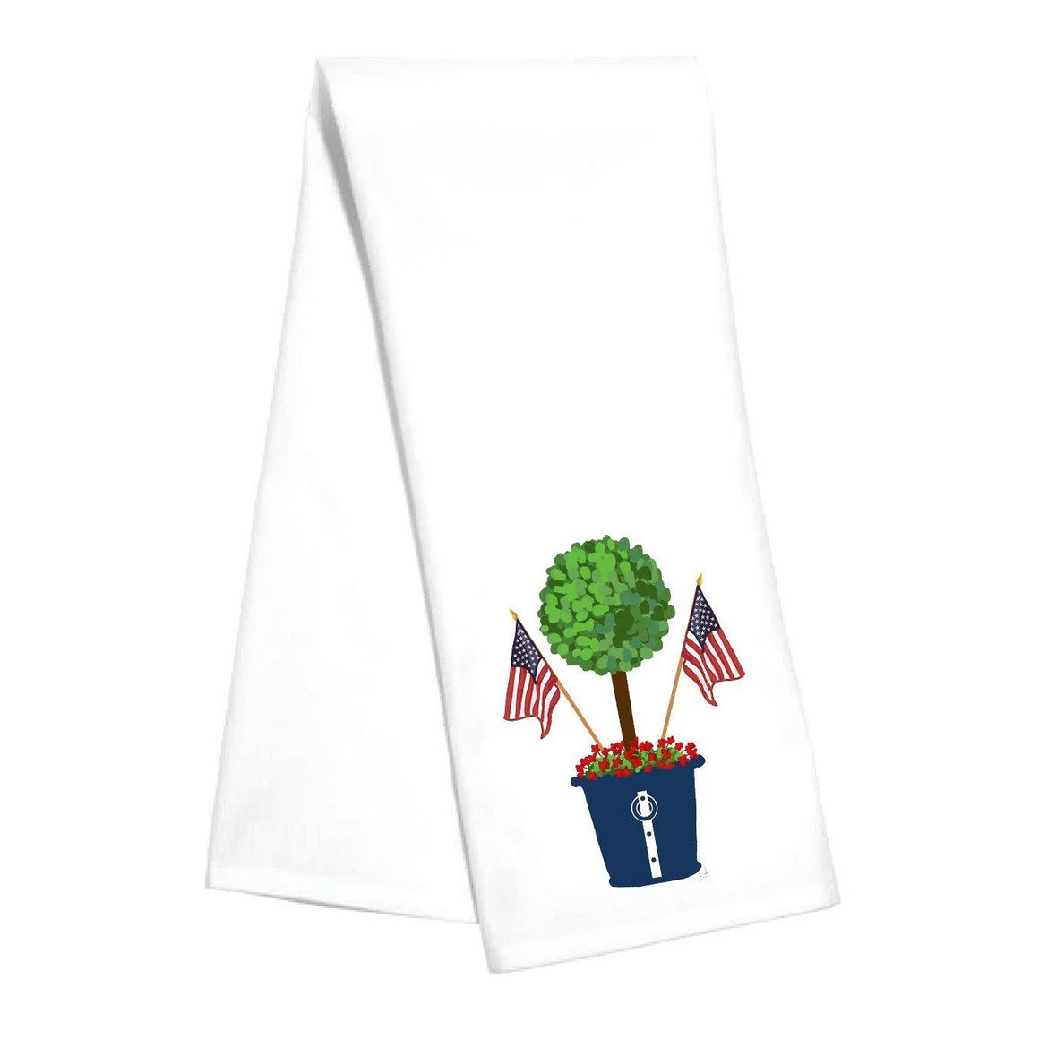Patriotic Topiary Kitchen Towel - The Preppy Bunny