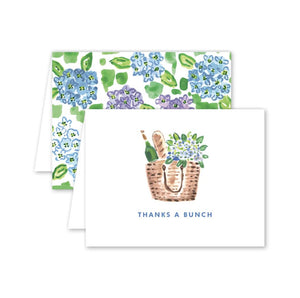Nantucket Hydrangea Thank You Cards - Box Set - The Preppy Bunny