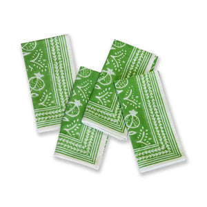 Pomegranate Green Dinner Napkins Set of 4 - The Preppy Bunny