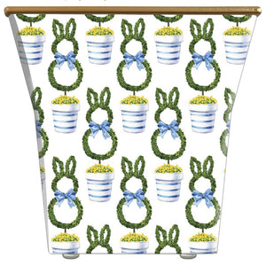Topiary Bunny Cachepot Candle with Monogram - The Preppy Bunny