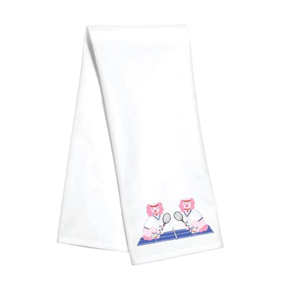 Willa Heart Martina & McEnroe Tennis Kitchen Towel - The Preppy Bunny
