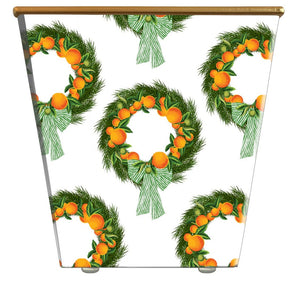 Citrus Wreath Cachepot Candle with  Monogram - The Preppy Bunny