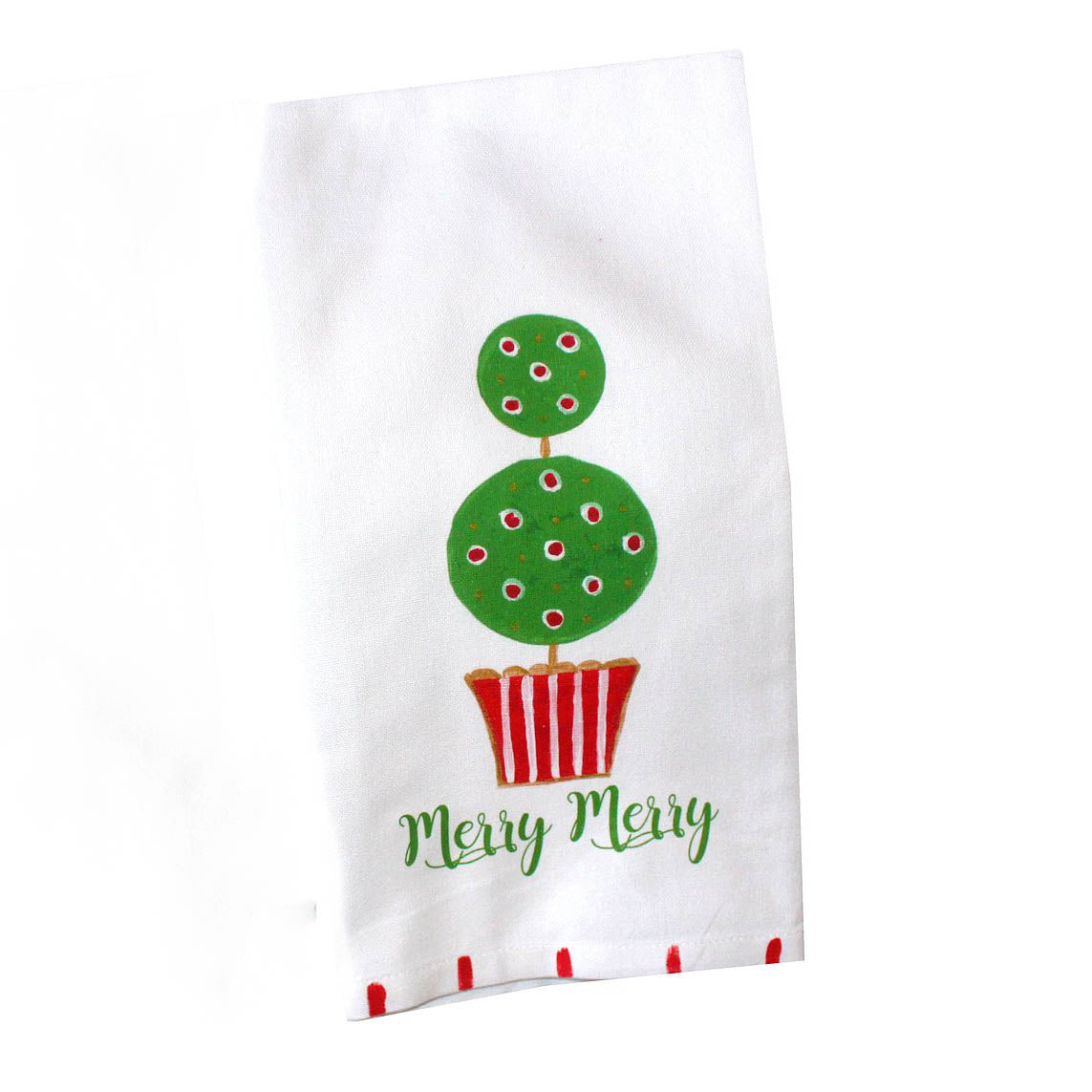 Christmas Ball Topiary Kitchen Towel - The Preppy Bunny