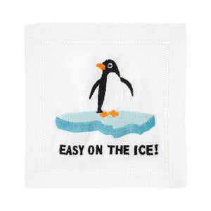 Easy On The Ice Cocktail Napkins by August Morgan - The Preppy Bunny