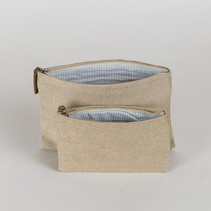 Jute Pouch Natural Set of 2 - The Preppy Bunny