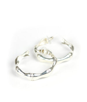 Bamboo Hoop Earrings - The Preppy Bunny