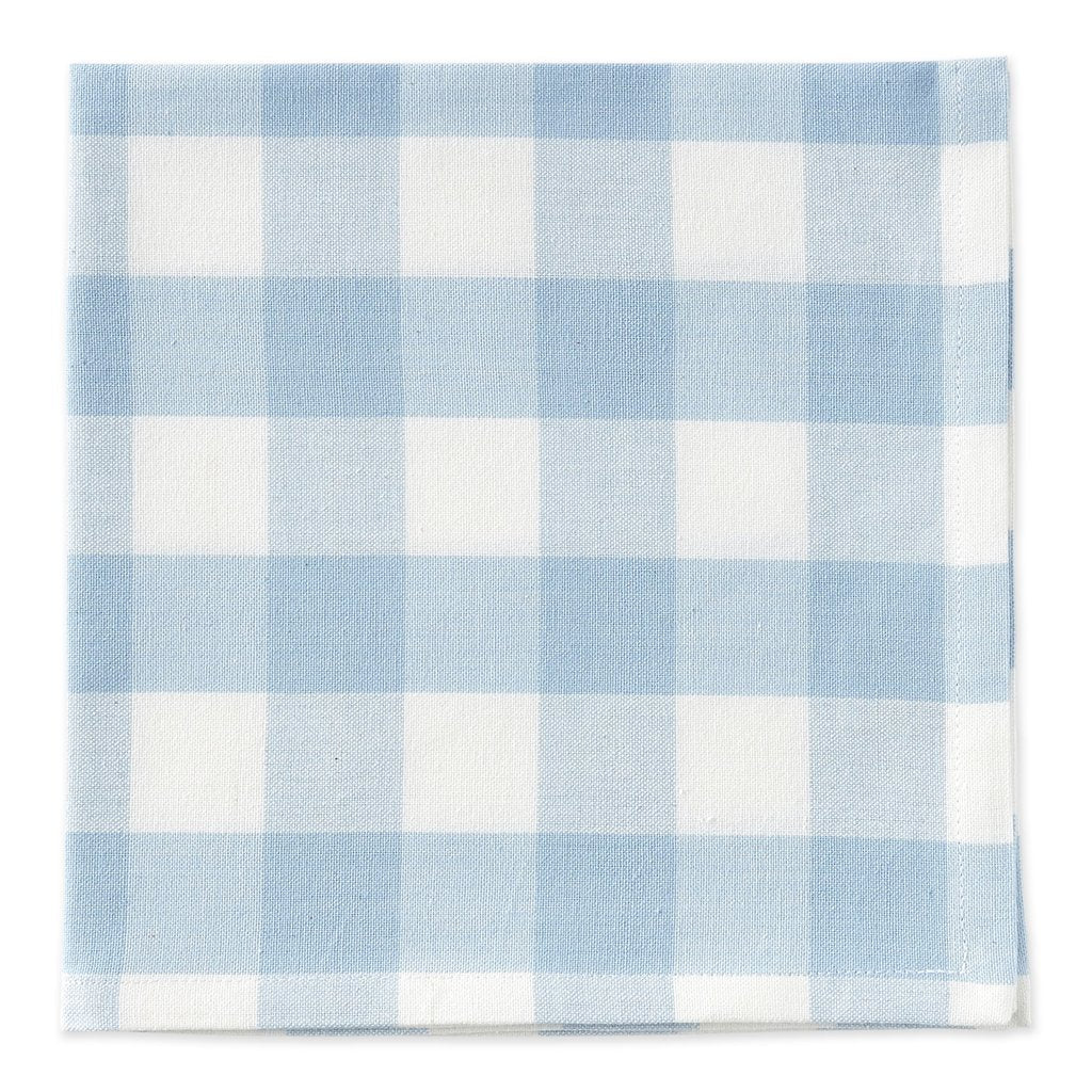 Light Blue Check Napkins Set of 4 - The Preppy Bunny