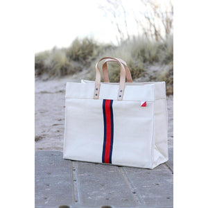 Stripe Box Tote - The Preppy Bunny