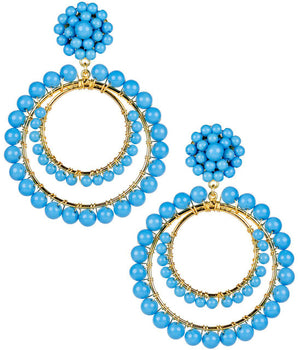 Caroline Earrings in Turquoise - The Preppy Bunny