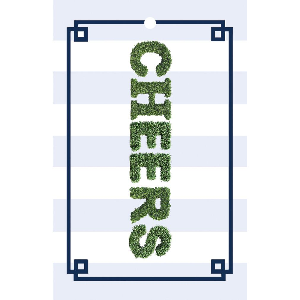 Cheers Boxwood Stripe Gift Tags - The Preppy Bunny