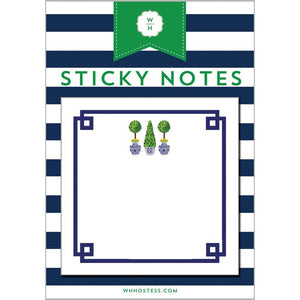 Chinoiserie Topiary Sticky Notes - The Preppy Bunny
