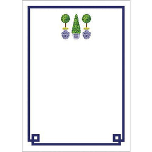 Chinoiserie Topiary Notepad - The Preppy Bunny