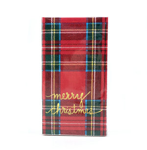 Merry Christmas Plaid Paper Guest Towels - The Preppy Bunny
