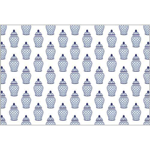 Geometric Ginger Jar Paper Placemats Set of 25 - The Preppy Bunny