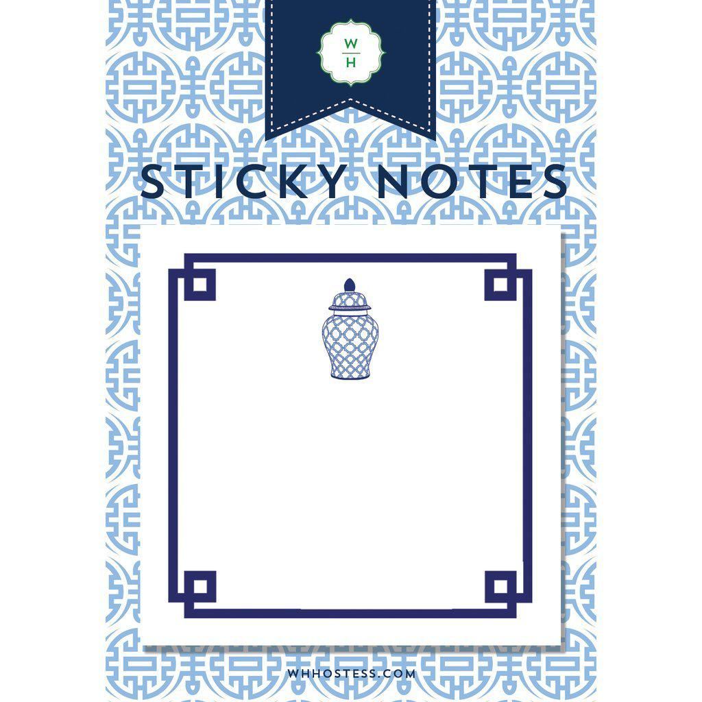 Geometric Ginger Jar Sticky Notes - The Preppy Bunny